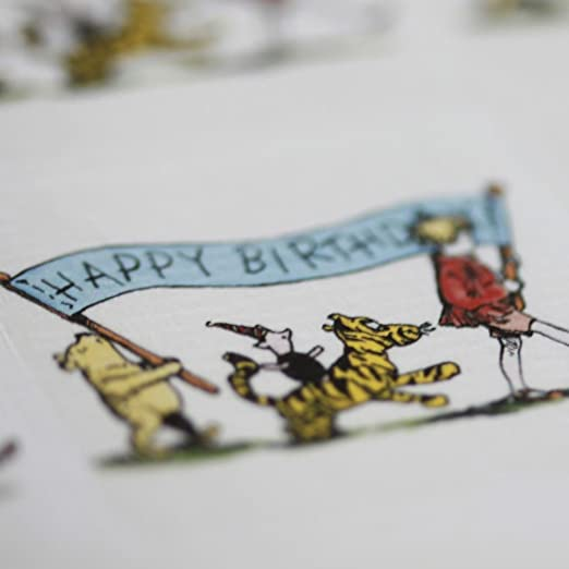 Winnie the Pooh Bear Happy Birthday Themed Sticker Sheet 35 square stickers
