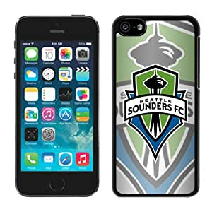 Perfect fit for your beloved phone,100% Brand New Seattle Sounders FC 07 Black For iPhone 5C Case