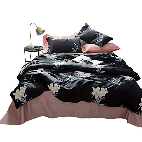 jieshiling 100% Egyptian Cotton Duvet Cover Queen