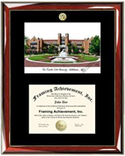 florida state university fsu lithograph matted diploma frame choice of college major gold seal insignia