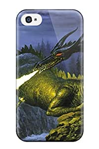lintao diy 8851564K31012010 Snap-on Case Designed For Iphone 4/4s- Dragon