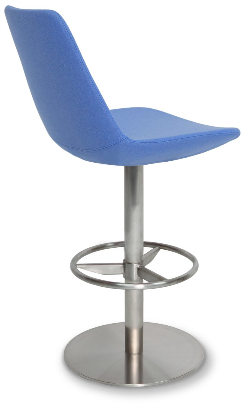 Soho Concept EiffelSS-Ch-GBIPPM Eiffel Swivel Stools with Chrome Base, Grey And Bronze Italian PPM by Soho Concept