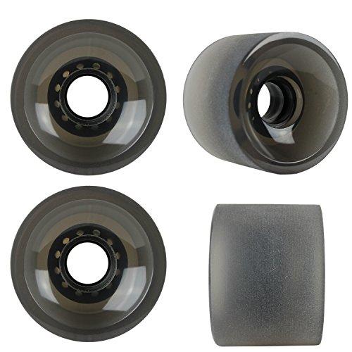 KSS Sliding Longboard Wheels 82A Stone Ground Set of 4 Black, 70mm (Best Longboard Wheels For Sliding)