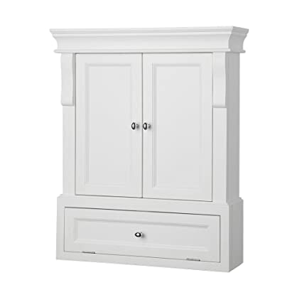 Ordinaire Foremost NAWO2633 Naples 26 1/2 Inch Bathroom Wall Cabinet, White
