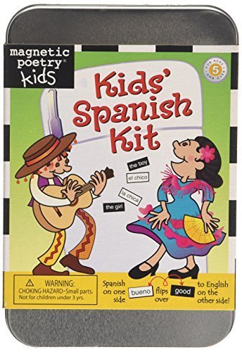 Magnetic Poetry Spanish - Magnetic Poetry Kids Spanish Kit (English and Spanish Edition) by Magnetic Poetry (May 15, 2009) Misc. Supplies