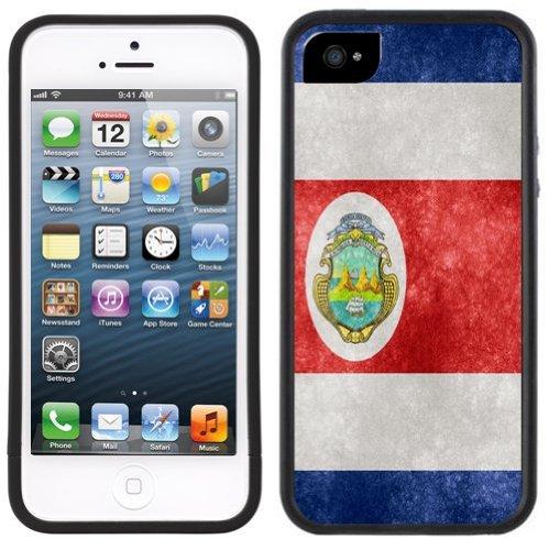 Costa Rica Flagge | Handgefertigt | iPhone 5 5s | Schwarze Hülle