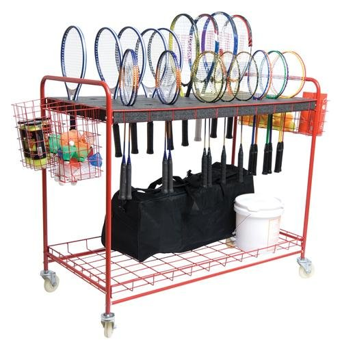 BSN Sports Racquet Storage Cart