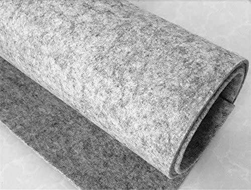 new style 2ca64 cff5d Felt Fabric 3 mm Thick, Light Grey Craft Felt Cloth Non-Woven Wool Felt  Fabric Sold by The Yard (3 mm Thick, Light Grey)