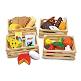 Melissa & Doug 271,10271 Food 271 Groups - 21 Hand-Painted Wooden Pieces and 4 Crates, multicolour