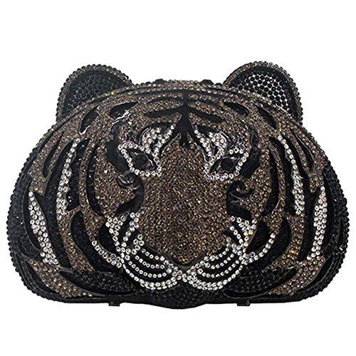 Bourse De Mariage Avec Strass Embrayage Femme Soirée Sac À Main Bourse Bourse Cérémonie Embrayages Tigre Noir