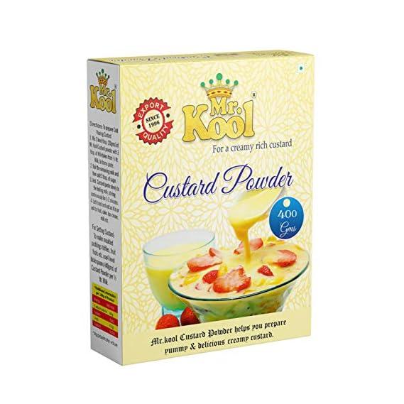MR. KOOL Custard Powder Golden Vanilla Flavor Pure Veg 400 g