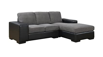 Amazon.com: Monarch Specialties Leather-Look Sofa Lounger ...