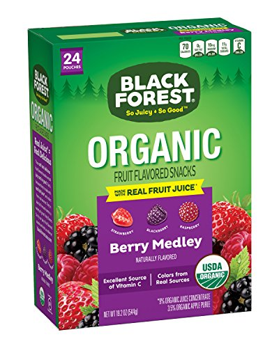 - Black Forest Organic Fruit Snacks, Berry Medley, 0.8-Ounce Bags (Pack of 24)