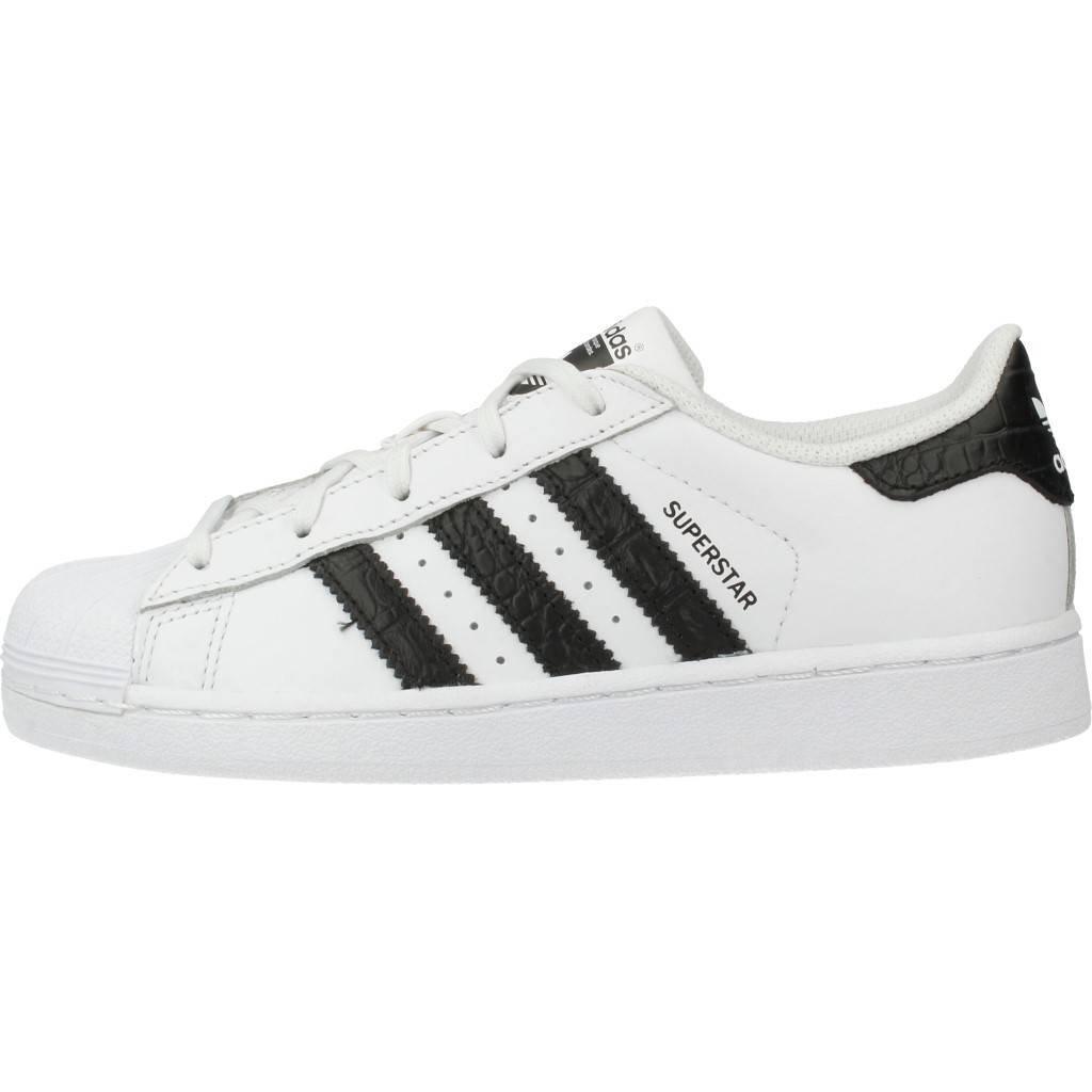adidas Originals Superstar WhiteBlack Leather Junior