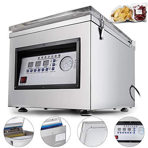 Happybuy Z-260C Chamber Vacuum Sealer 300W Sealing Power Vacuum Sealer Machine Automatic Vacuum Packing Sealing Sealer Machine for Home or Commercial Use (DZ-260C)