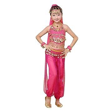 Gtagain Niña Vestidos Disfraz Falda - Lentejuela Baile India ...