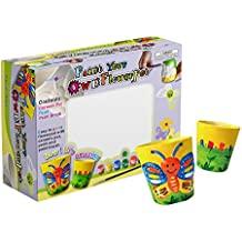 SadoCrafts Flower Pots Painting Kit - Fun, Interactive, Educational and DIY Ceramic Pot Painting for Gardening and Decoration for Kids Ages 5+