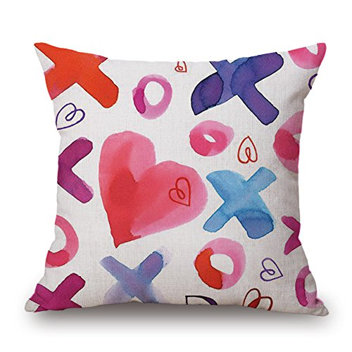 - GOVOW Valentines Day Decorations Throw Pillow Case Sweet Love Square Cushion Cover on