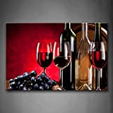 First Wall Art - Red Purple Grape Wine Wall Art Painting Pictures Print On Canvas Food The Picture For Home Modern Decoration