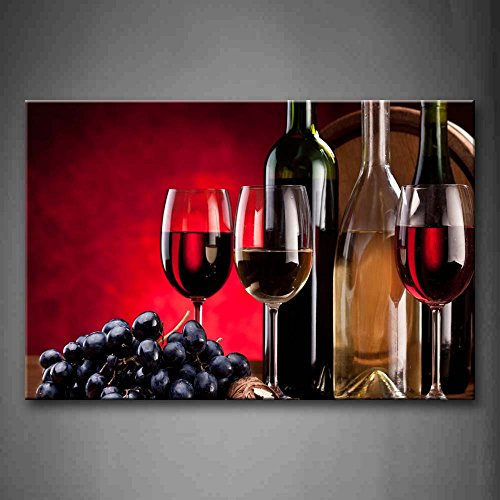 First Wall Art - Red Purple Grape Wine Wall Art Painting Pictures Print On Canvas Food The Picture For Home Modern Decoration by Firstwallart