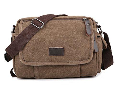 Männer Und Frauen Jahrgang Leinwand Messenger Aktentasche Schulter Tote Sling Freizeit Tasche,B-27cm*10cm*21cm