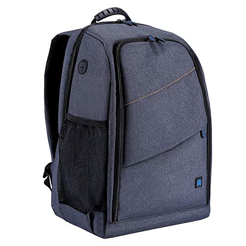 Docooler Camera Bag Backpack with Insert Dividers + Rain Cover, Waterproof Bag Scratch-Proof Dual Shoulders Backpack for DSLR Camera, Sports Camera, Tripod and Other Photography Accessories