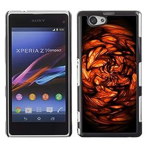 TECHCASE**Cubierta de la caja de protección la piel dura para el ** Sony Xperia Z1 Compact D5503 ** Red Abstract