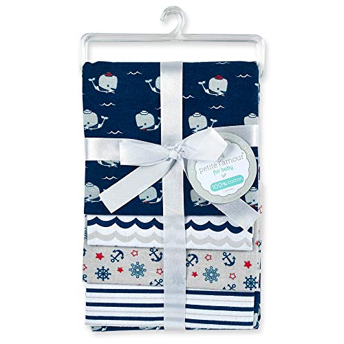 - Cribmates 4-Piece Flannel Receiving Blankets