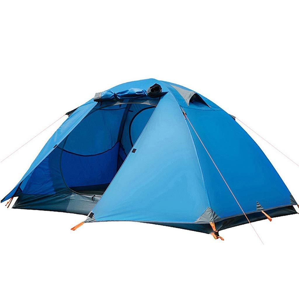 【新発売】 キャンプテントダブル四人穏やかな多機能梅雨風タイトテントブルー B07P2WZG8W B07P2WZG8W, 主婦のMIKATA:258025d5 --- ciadaterra.com