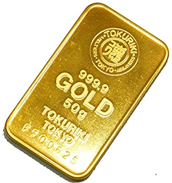 徳力 ゴールドバー 50g インゴット 日本製50gの純金 24金 Gold Bar K24 tokuriki