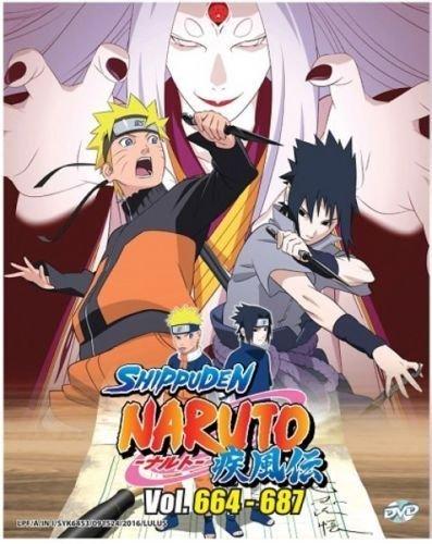 Naruto Shippuden (Box 23)(6 Discs) Vol. 664 - 688 (DVD, Region All) English Subtitles Japanese Anime ()
