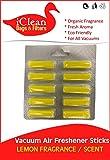 Vacuum Air Freshener Sticks Lemon Fragrance/Scent 3Pk by iClean Fragrance