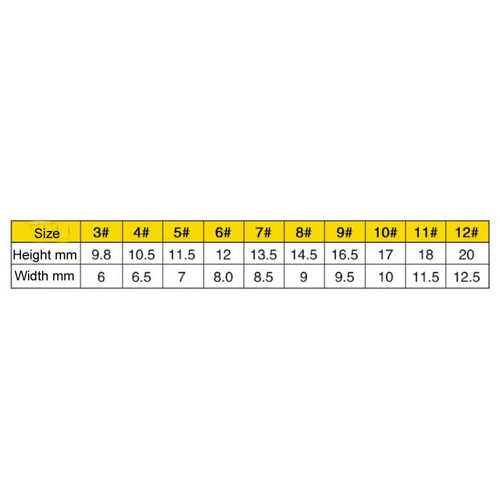 Ganchos de Acero de Alto Carbono para Pesca de Carpas con Caja de pl/ástico Haobase Juego de 500 unidades//10 tama/ños 3#-12#