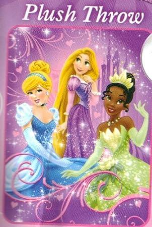 Disney Princess Plush Throw Blanket Cinderella Tiana Rapunzel Custom Rapunzel Throw Blanket
