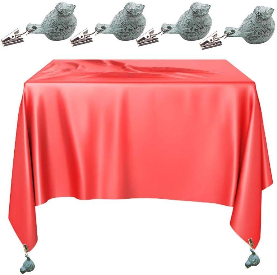 4 Pcs//Set Pesos De Mantel Clips De Mantel Pinzas De Mantel P/ájaro Colgante De Mantel para Hogar Jard/ín Partido Picnic Barbacoa Boda Childlike Pesos para Manteles De Mesa