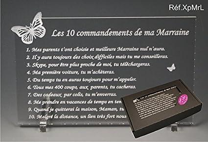 Les 10 Commandements De Marraine Papillon Texte Loin De Moi Cadeau Baptême Communion