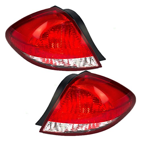 Driver and Passenger Taillights Tail Lamps Replacement for Ford 5F1Z 13405 A 5F1Z 13404 A AutoAndArt