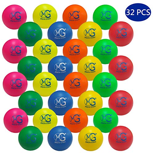 Macro Giant 2.8 Inch Foam Bouncing Ball, Set of 32, Assorted Colors, Stress Ball, Squeeze Ball, Fun Toys, Party - Balls Fun Soft 100