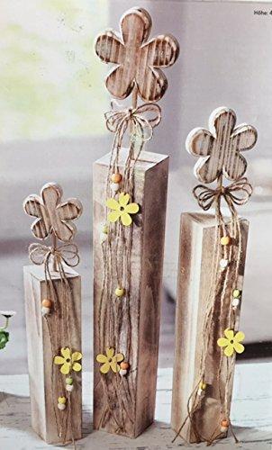 3 Holz Deko Sockel Blumen Saulen Fruhling Sommer Ostern Fenster