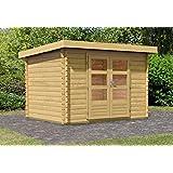 karibu woodfeeling gartenhaus bastrup 2 mit schleppdach 2. Black Bedroom Furniture Sets. Home Design Ideas