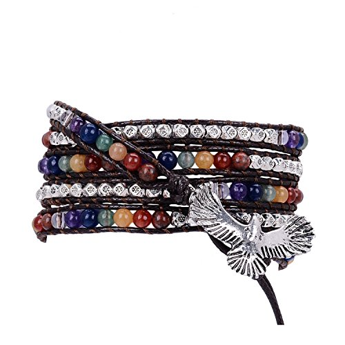 Bracelet Genuine Leather Birthstone Jewelry