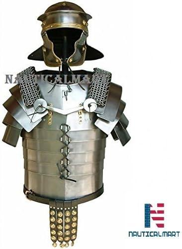 NAUTICALMART Disfraz de Armadura Romana con Placa de latón y Brazo ...