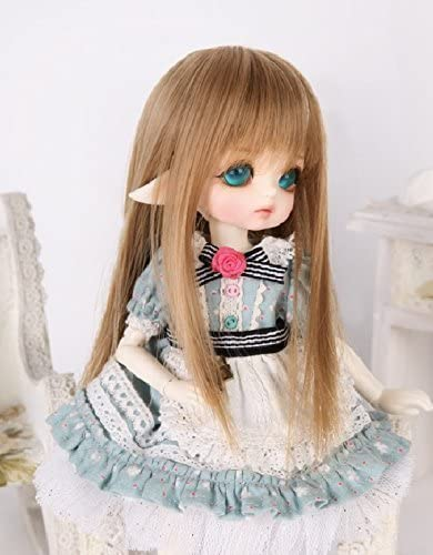 1//3 1//4 1//6 1//8 BJD Doll Wig Long Hair Curly Wavy Brown For AOD RD LUTS Dollfie