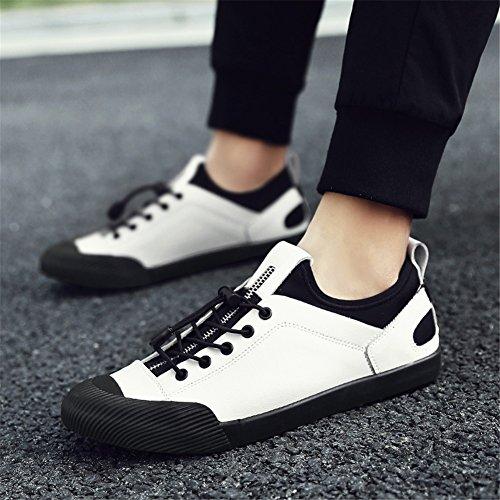 Cuir Automne Une Plein Chaussures Légère Chaussures Mocassins Trekking air Course Hommes Plats de pour Printemps athlétique en Lacets Baskets en Confort qvEfRIZ