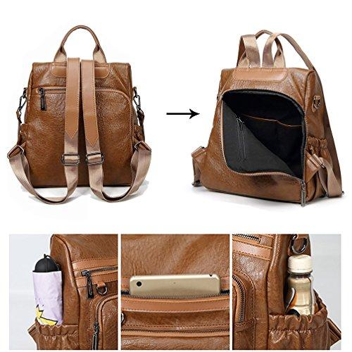 dos sac dos bandoulière à à PU Marron à femme sac cuir Marron à bandoulière dame sac main sac Fanshu zxEvpq