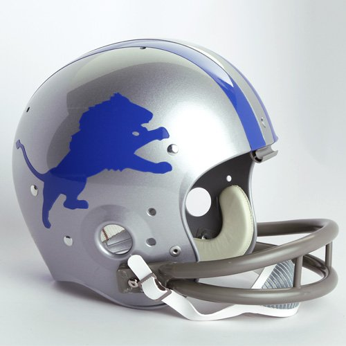 - NFL Riddell Detroit Lions Silver 1962-1968 Throwback Suspension Full-Size Helmet