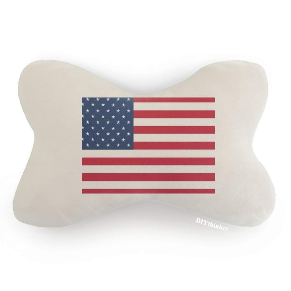 DIYthinker USA National Flag North America Country Car Neck Pillow Headrest Support Cushion Pad