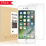 Scarer [3Pack] iPhone 7 Screen Protector, [Bubble-Free][HD-Clear][Anti-Scratch][Anti-Glare][Anti-Fingerprint] Tempered Glass Screen Protector for Apple iPhone 7