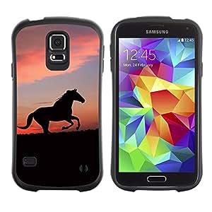 Suave TPU Caso Carcasa de Caucho Funda para Samsung Galaxy S5 SM-G900 / cute animals horse / STRONG