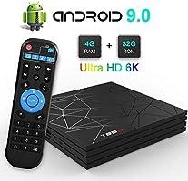 YPSMLYY El Decodificador De TV De Red Admite 3D 6K Ultra HD H.265 2.4GHz WiFi Ethernet HDMI Smart TV Box T95 MAX H6 Android 9.0 Es Compatible con 6K WiFi TV Box: